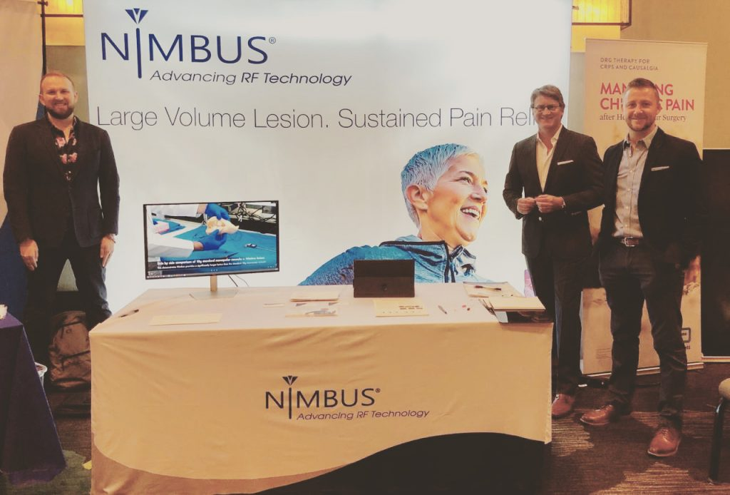 Nimbus recently exhibited at the Texas Pain Society Meeting, San Antonio, October 25th & 26th