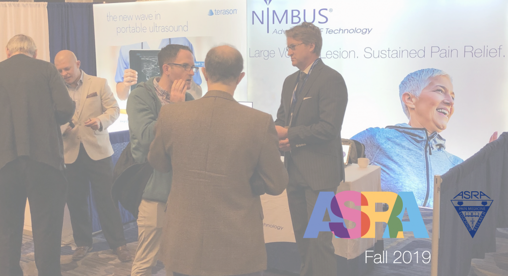 NimbusRF had the opportunity to attend the ASRA, 18th Annual Pain Medicine Meeting, on Thursday, November 14th through Saturday, November 16th at the Marriott in New Orleans, LA.